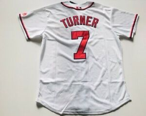 the best attitude 73148 65a5c Details about Trea Turner #7 Washington Nationals Jersey Men Size M Medium  Free Shipping
