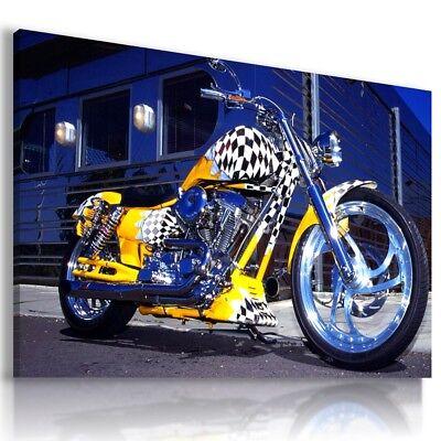 HARLEY DAVIDSON  MOTOR BIKE SILVER Wall Canvas HD27 MATAGA  UNFRAMED-ROLLED