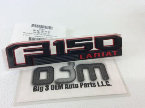 2016 2017 2018 Ford F-150 Lariat LH Driver Side Black Red fender Emblem new OEM