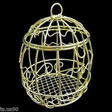 Gold Metal Wire Bird's Cage Birdcage 1:6 Scale Barbie Doll's Dollhouse Miniature