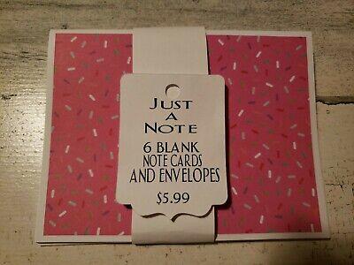 Pink sprinkles blank cards