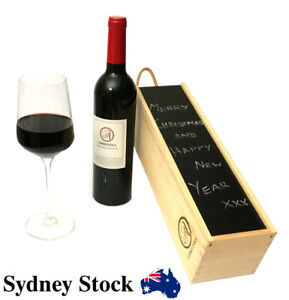 Details About Ambrizzola Wooden Wine Gift Box Wood Wool And Chalk Are Included