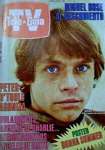 TV Guide 1981 Star Wars Luke Skywalker Last Jedi Tele Guia Peru Charlies Angels