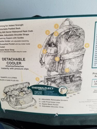 L @ @ K Moosehead bière Northwoods Sac à Dos Randonnée Voyage CA Innovations NOUVEAU