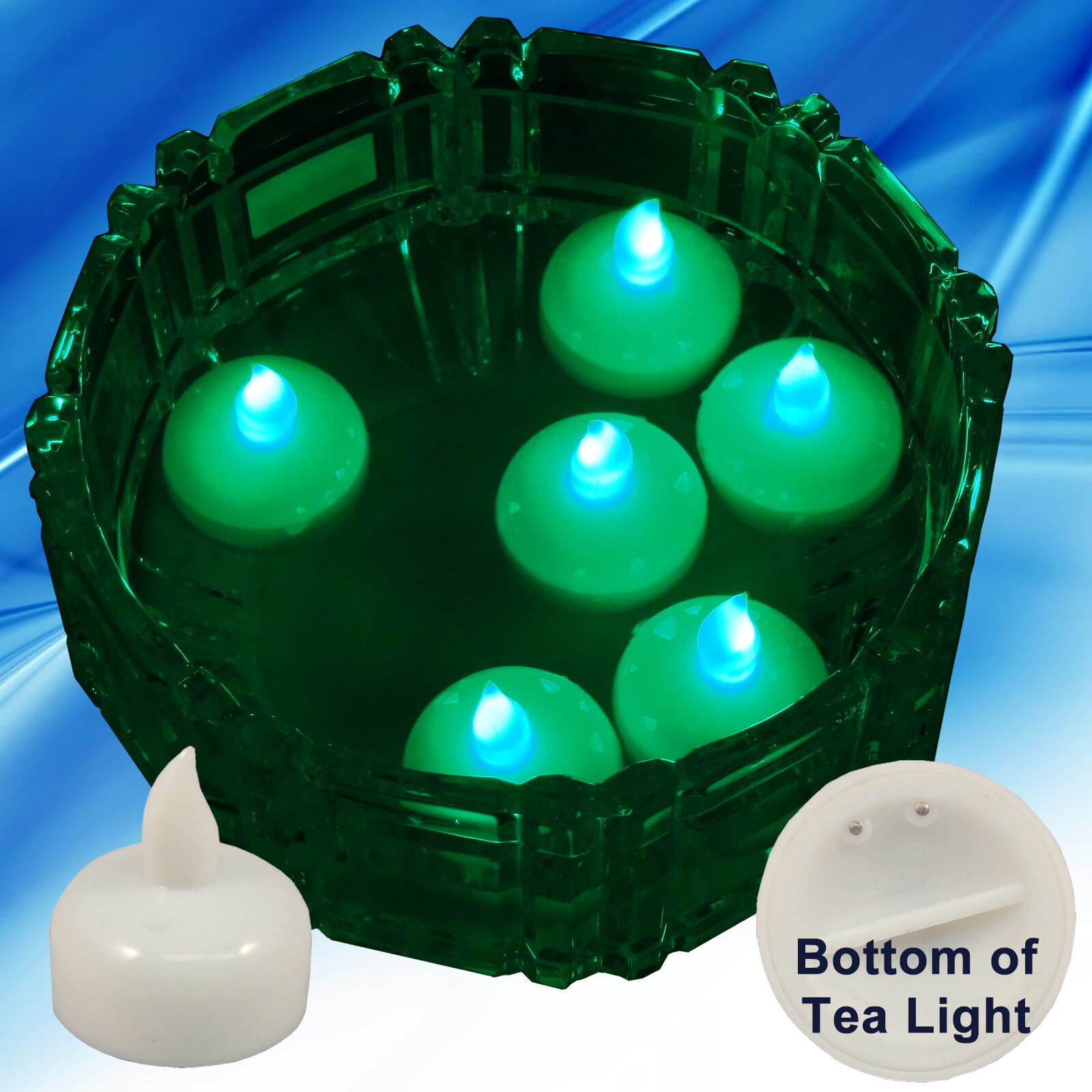 FREESH 36X Waterproof LED Floating Tealight Flameless Candle Wedding Party Green