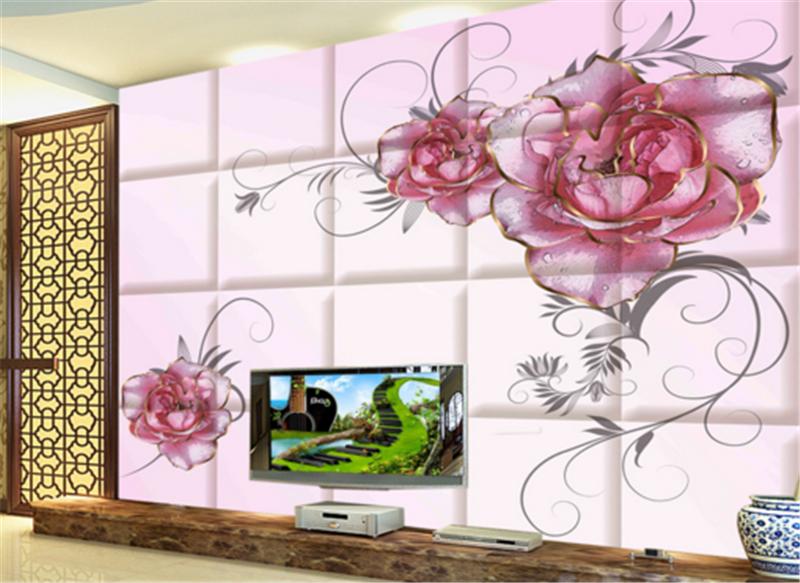3D Atmosphere rot Flowers 9 Wallpaper Mural Paper Wall Print Wallpaper Murals UK