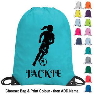 Personalised-Girl-Football-Bag-Drawstring-PE-Kit-Gym-School-Sports-Kids-Team