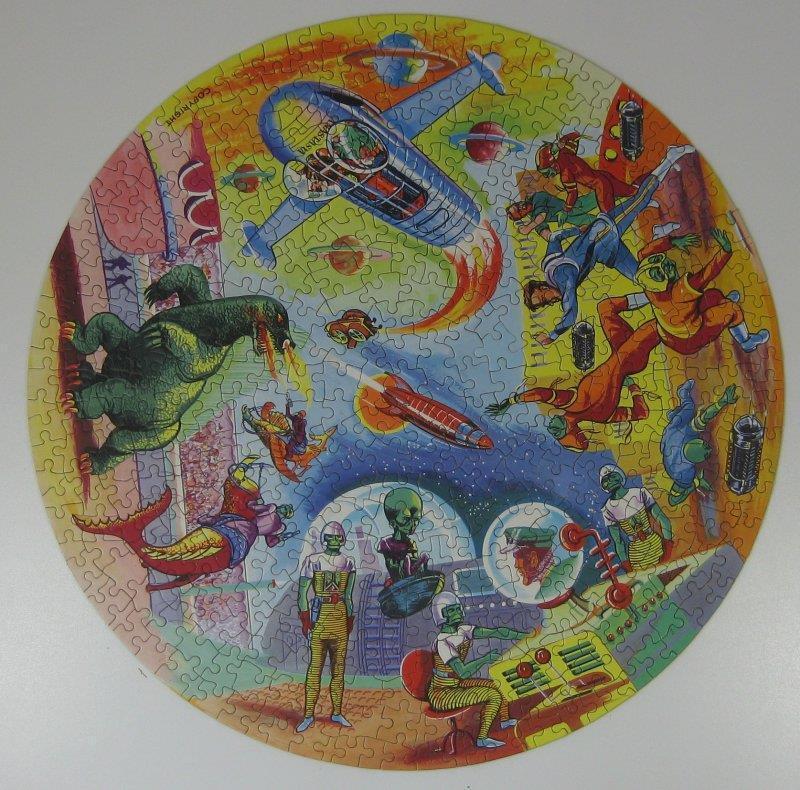 'DAN DARE' Vintage 1950's Waddingtons Circular Jigsaw Puzzle 500 pcs - COMPLETE