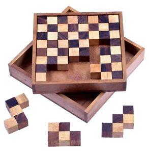 Pentomino-Schachpuzzle-Holzpuzzle-Denkspiel-Knobelspiel-Geduldspiel-2-Wahl