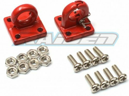 1//10 Steel PINTLE HOOK /& LUNETTE RING Tow Shacle SCX10 CC01 RC4WD WRAITH RED