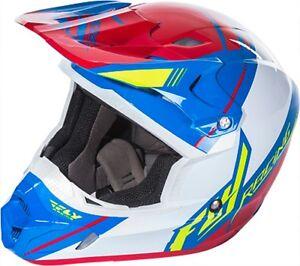 Fly-Racing-Adult-XL-Canard-Replica-Red-Blue-Kinetic-Pro-Dirt-Bike-Helmet-MX-ATV