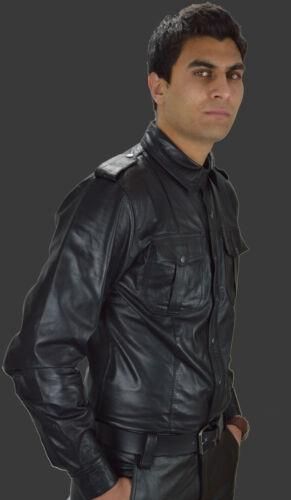 AWANSTAR-669 Police style Lederhemd,Leather shirt,Chemise Cuir,Soft Leder Hemd