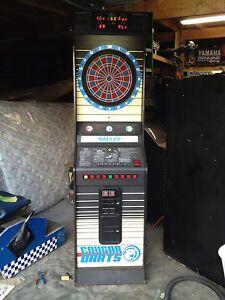 Valley Cougar Dartboard Honest Ernie Coin Operated Video Arcade Game Dart Board Ebay