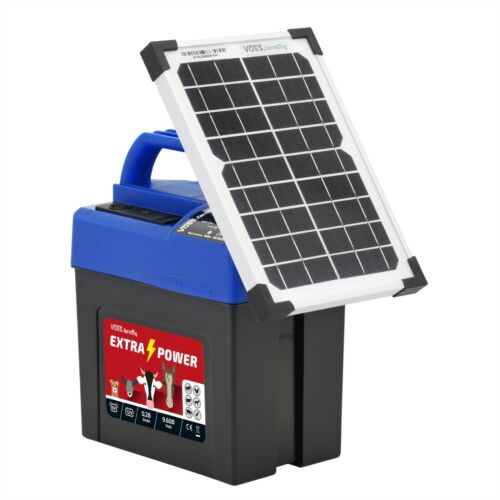 Weidezaungerät 9 Volt mit SOLAR Modul Elektrozaun Batteriegerät Weidezaun Garten