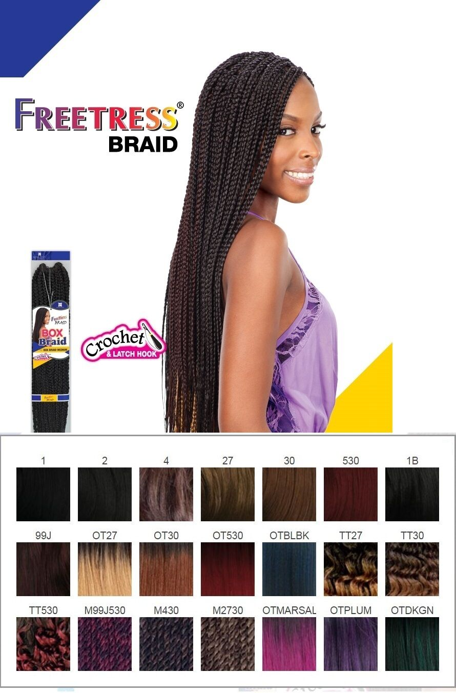 Large Box Braid Freetress Bulk Crochet Braid Hair New Color Ebay
