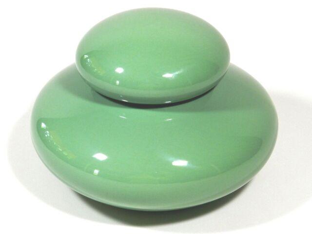 Jaru Ceramic Pottery Jar With Lid Jade Green Vintage