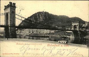 Bodenbach-D-in-Tschechien-eska-Boehmen-AK-1903-Kettenbruecke-Schaeferwand-Bruecke