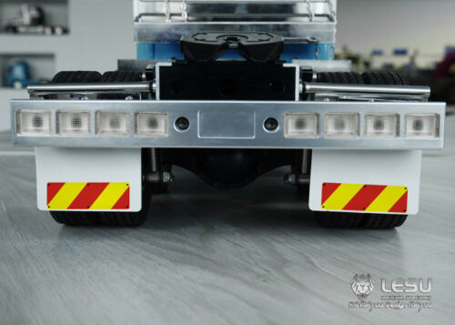 LESU Metal Rear Mud Plate for 1//14Tamiya King Knight GL RC Truck Tractor Car