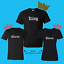 King Queen Matching Couple Love T-Shirt New Ready to Ship!