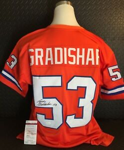 sports shoes 5a911 0f255 Details about RANDY GRADISHAR Denver Broncos #53 Signed Throwback Jersey -  Autographed JSA COA