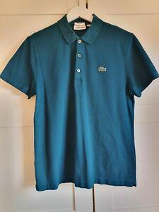 Mens Lacoste Sport Slim Fit Turqoise Polo Shirt FR 4 US M UK SIZE ...
