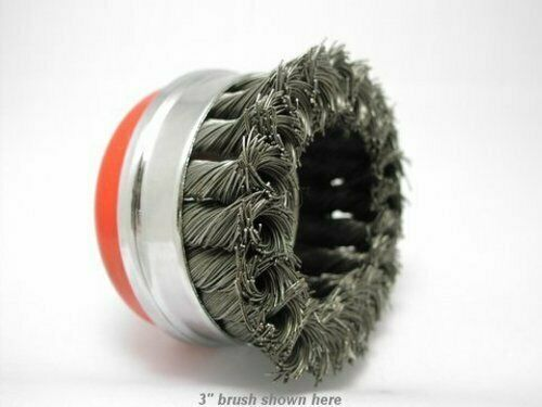 """HEAVY DUTY 3x 3/"""" Bridle Knot Cup Brush 5//8-11nc wire brush with BRIDLE"""