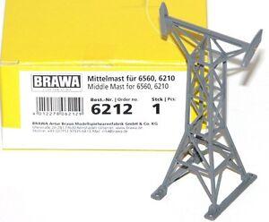 Brawa-h0-n-6212-telepherique-Mittelmast-hauteur-7-7-CM-NEUF-OVP
