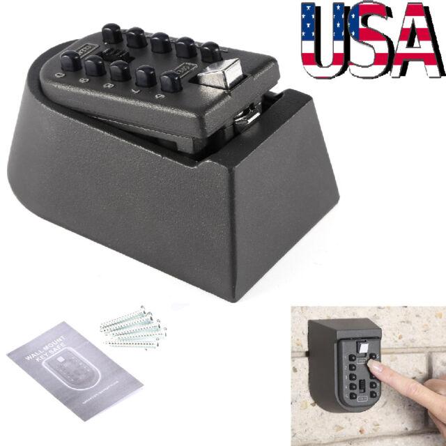 10Digit Combination Key Lock Box Wall Mount Safe Security Storage Case Organizer