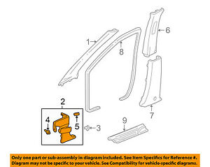 Acura Honda Oem 04 06 Mdx Interior Kick Panel Recorte Izquierda 83162s3va00zc Ebay