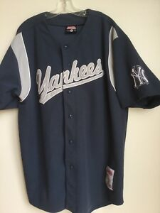 pretty nice 54752 77a27 Details about Stitches New York Yankees Team Blue Jersey Mens Size XL