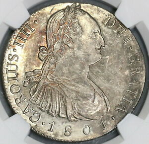 1801-NGC-AU-58-Guatemala-8-Reales-Spain-Colony-Silver-Coin-POP-2-1-15112903D
