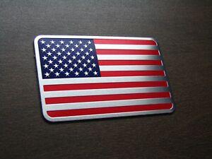 USA black American flag Car Auto chrome Emblem Decal badge 3D Sticker