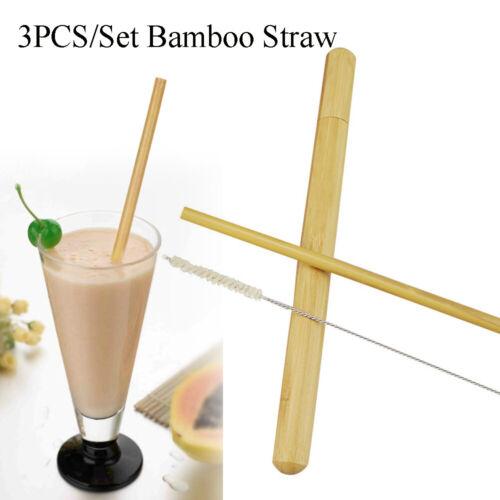 Vaisselle Cocktail Paille Paille Brosse de nettoyage Bambou Pailles