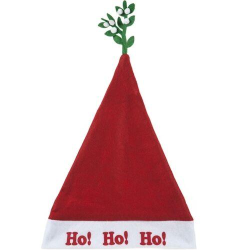 Xmas Adult Fancy Dress Mistletoe Santa Hat Costume Christmas Office Party