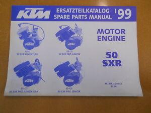 1999 ktm 50sxr factory spare parts manual motor engine ebay. Black Bedroom Furniture Sets. Home Design Ideas