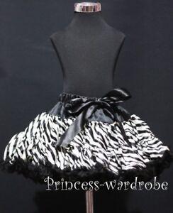 Black-Zebra-Print-FULL-Pettiskirt-Skirt-Dance-Tutu-1-8Y