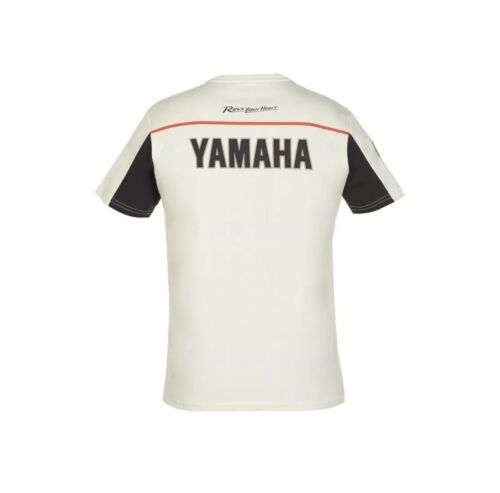 Officiel Yamaha fait vrombir byson blanc tee-shirt Homme