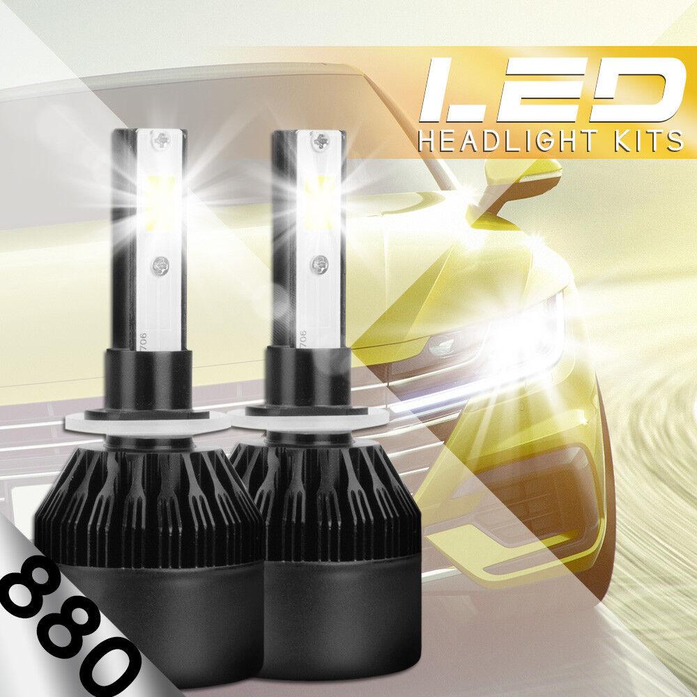 AUTOVIZION LED HID Foglight kit 893 White for 1994-2007 Ford E-350 Econoline