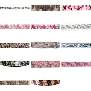 CAMOUFLAGE-PRINT-By-the-Yard-Military-Camo-Ribbon-Trim-You-chose-color-amp-size