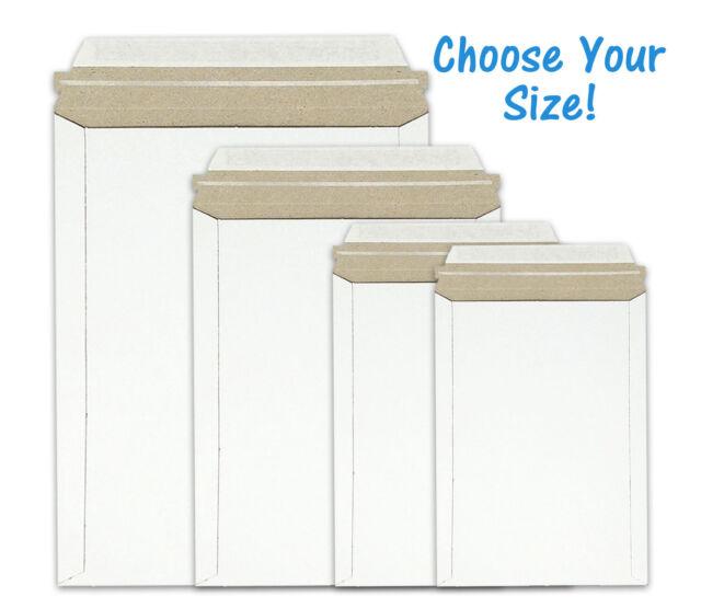 Yens® 100 pcs 6 X 8 Cardboard Mailers Self Seal Adhesive Flap Photo /& Document