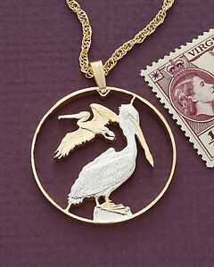 Pelicans-Pendant-amp-Necklace-British-Virgin-Islands-1-1-4-034-diameter-47