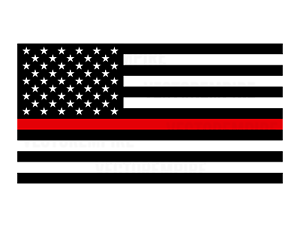 American Flag Thin Red Line SVG Firefighter DXF CNC Flag of USA Cricut File