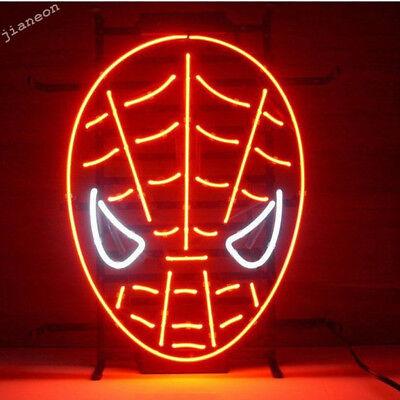 Red Spiderman Marvel Mancave REAL NEON SIGN BEER BAR Pub Garage LIGHT Free ship
