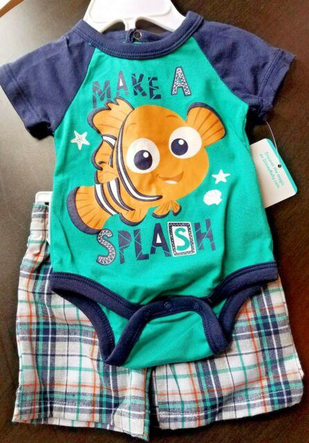 BOYS INFANT BABY DISNEY NEMO MAKE A SPLASH SIZE 0-3 MONTHS ...