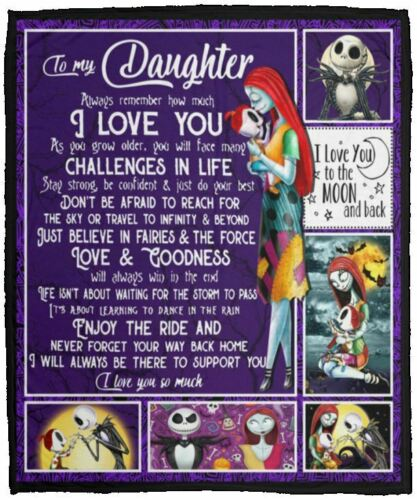 50x60 Jack Sally To My Daughter Always Remember I Love You Fleece Blanket