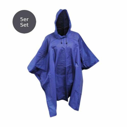 Regenjacke Regencape Regenponcho Regenschutz mit Kapuze blau unisex 1-80 Stk.