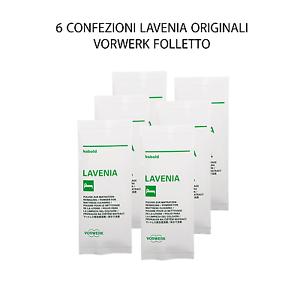 6 CONFEZIONI LAVENIA ORIGINALI VORWERK FOLLETTO REVIEL