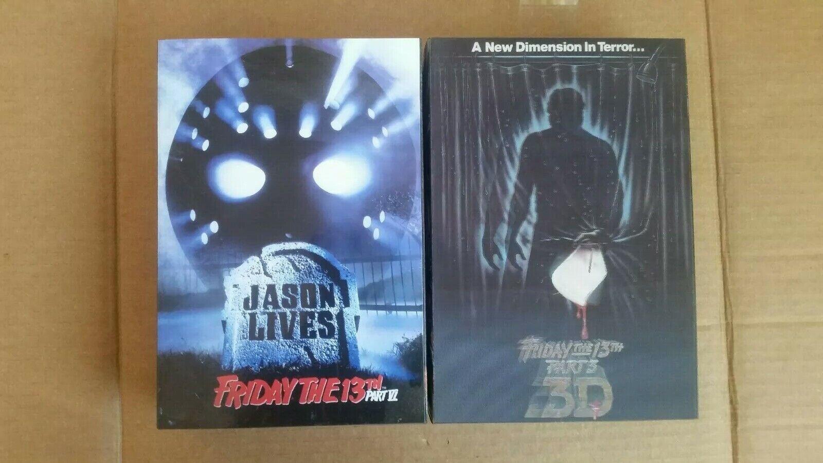 Jason Jason Jason Voorhees Friday the 13th figure part 3 + 6  Genuine neca cad