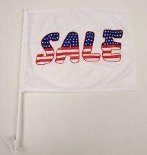 2 Premium Dealership Advertising Window Car Flags 1 USA Sale 1 We Finance