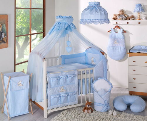 HEART LUXURY 7 pcs BABY BEDDING SET TO FIT BABY COT or COTBED// TEDDY BEAR